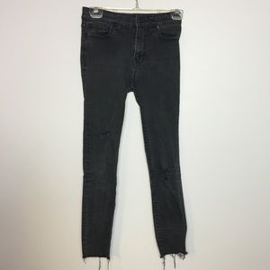 Madewell cropped High Riser Skinny distressed